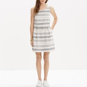 Madewell Linen Stripe Dress
